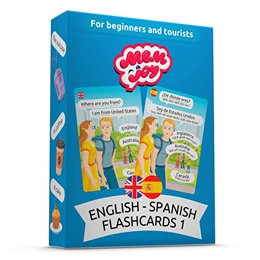 Amazon.com: Memjoy Spanish Flash Cards for Beginners and Tourists: Toys & Games