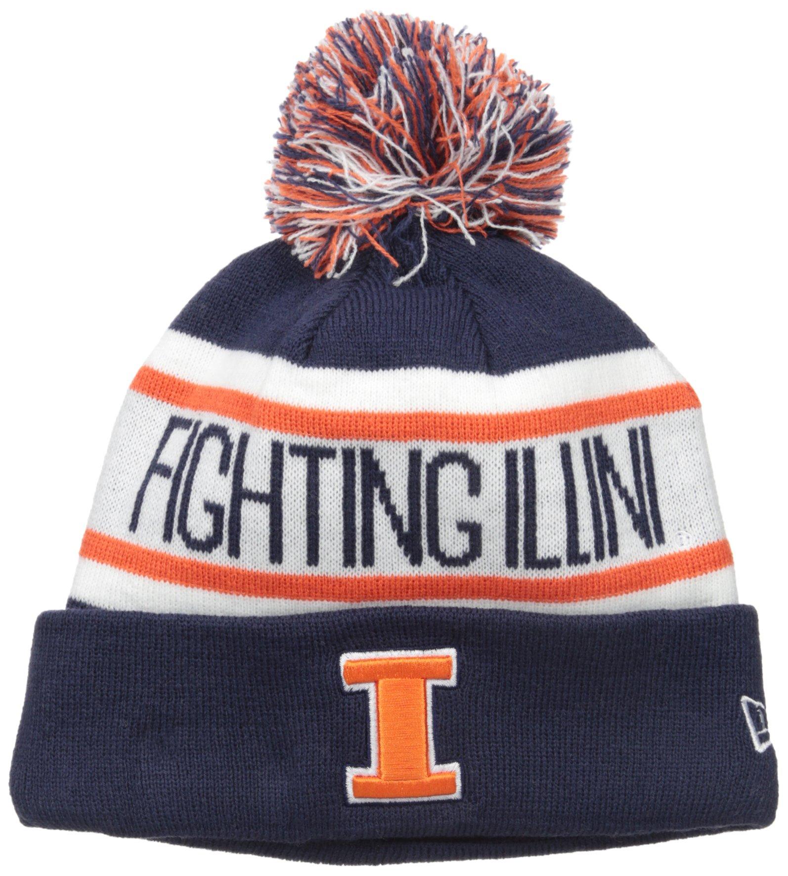 NCAA Illinois Illini Adult Biggest Fan Redux Knit Hat, One Size, Navy