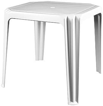 Joluce 005.02.7575.010000 Viana Table de Jardin Plastique Blanc 75 x ...