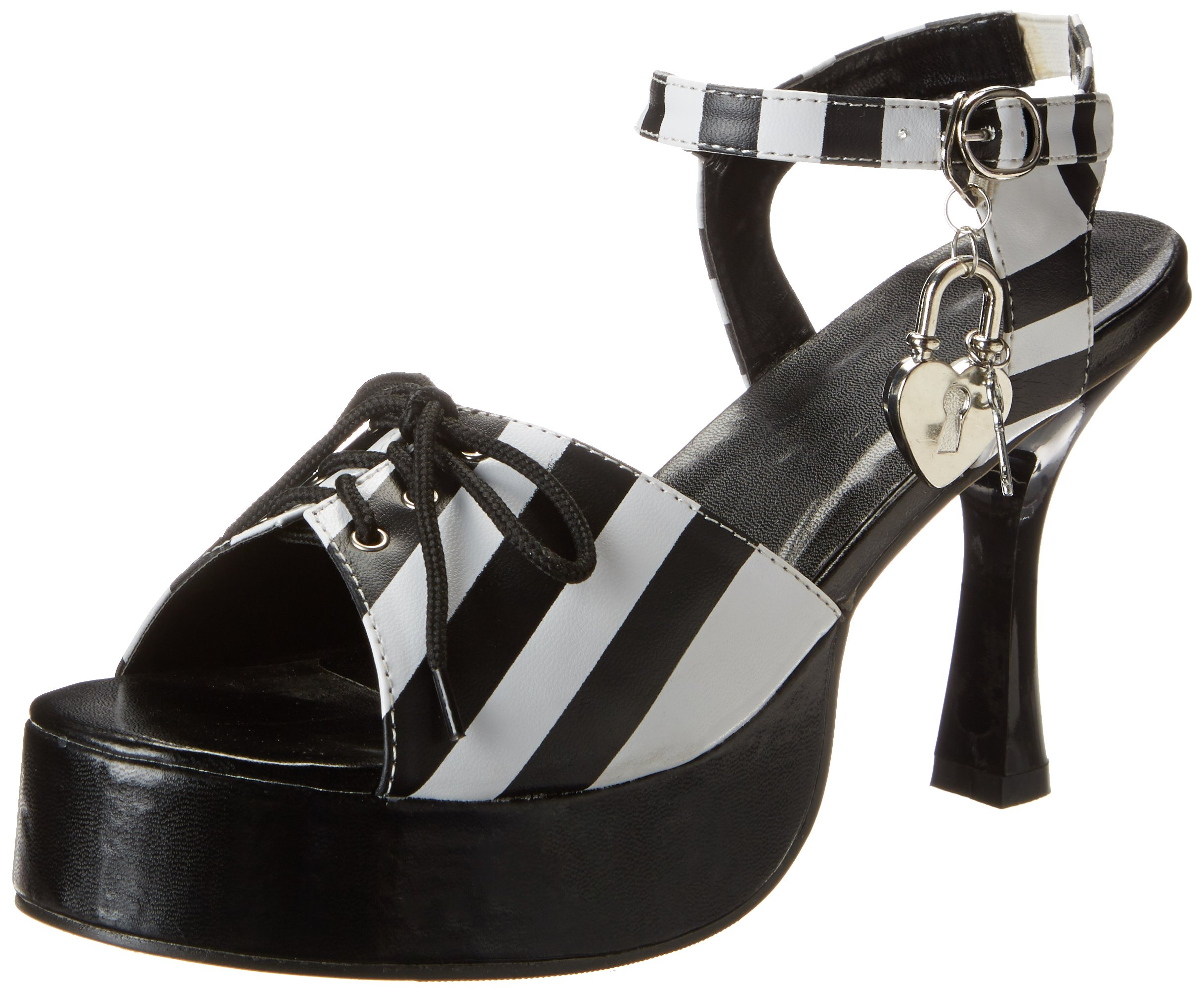 Forum Novelties Striped Convict Cutie Shoes, Black/White, Small