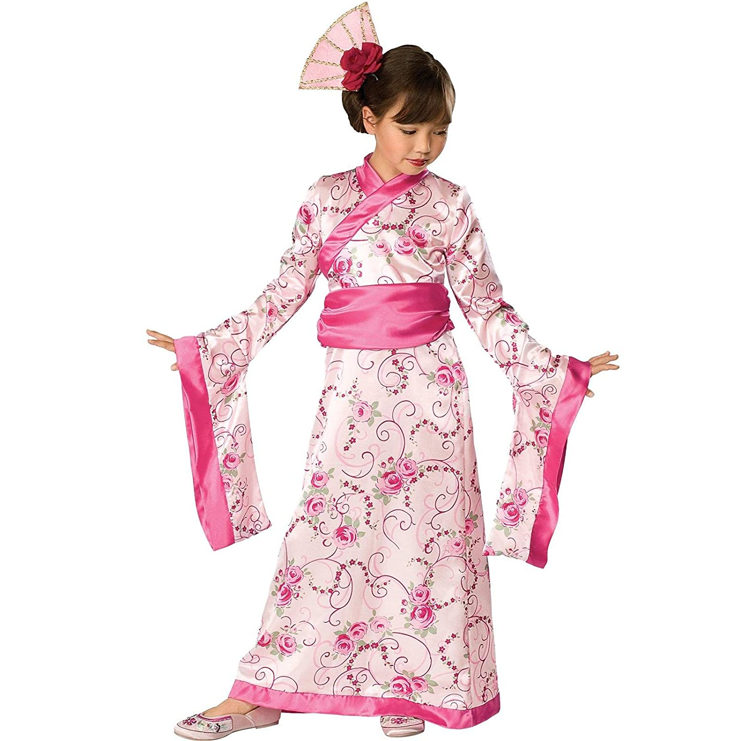 Amazon.com: Rubies Girls Asian Princess Halloween Kimono Dress ...
