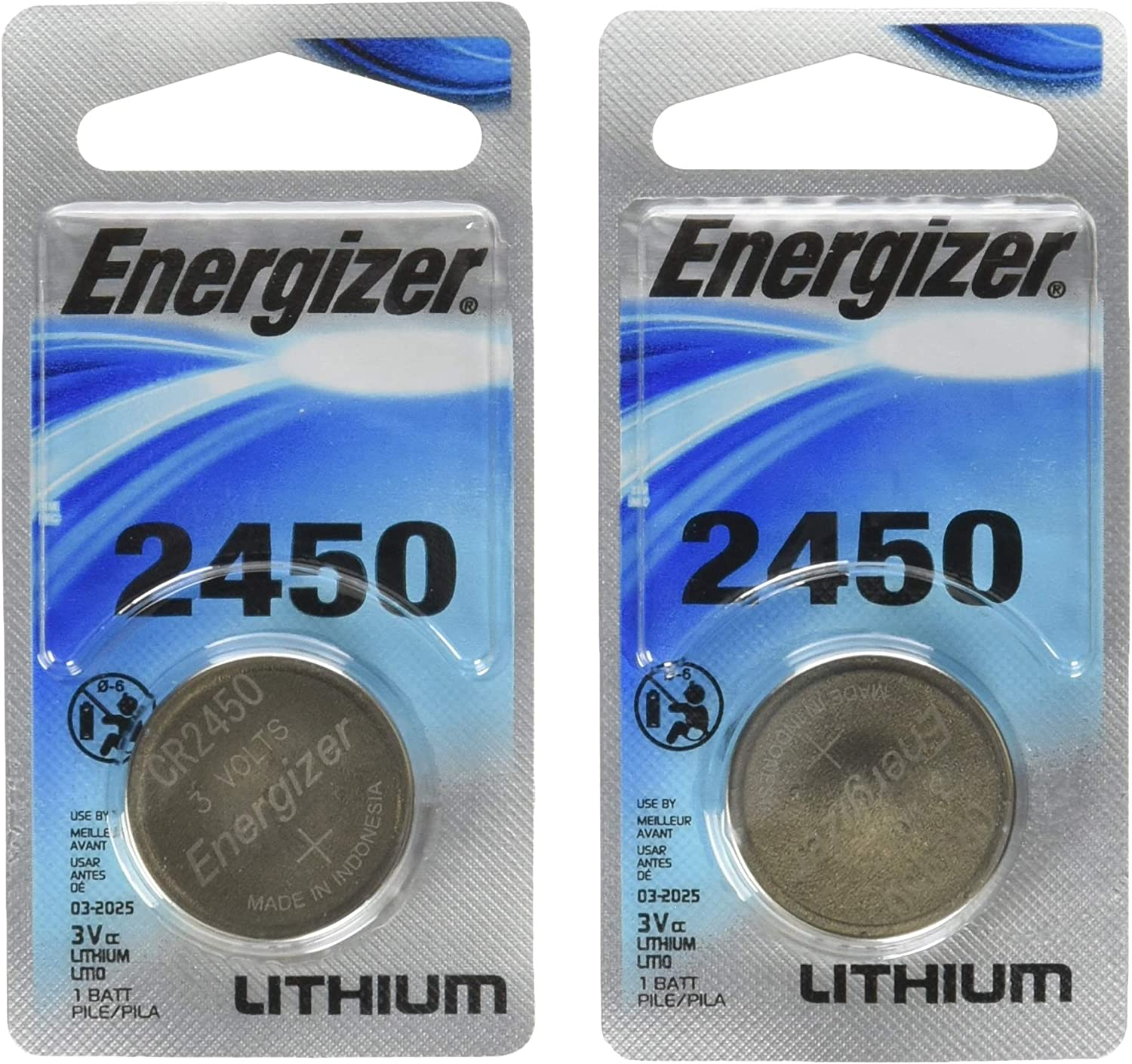 Energizer Lithium Coin Blister Pack Watch/Electronic Batteries (Pack of 2): Health & Personal Care