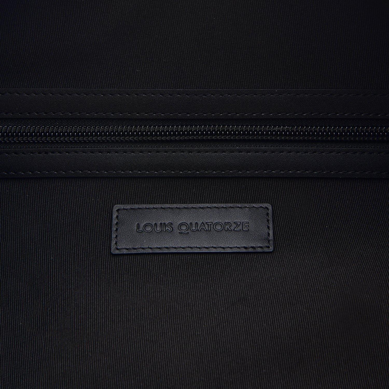 LOUIS QUATORZE Black Nylon Drawstring Backpack Sack Bag with LOUIS Monogram HM1EV73BL One Size