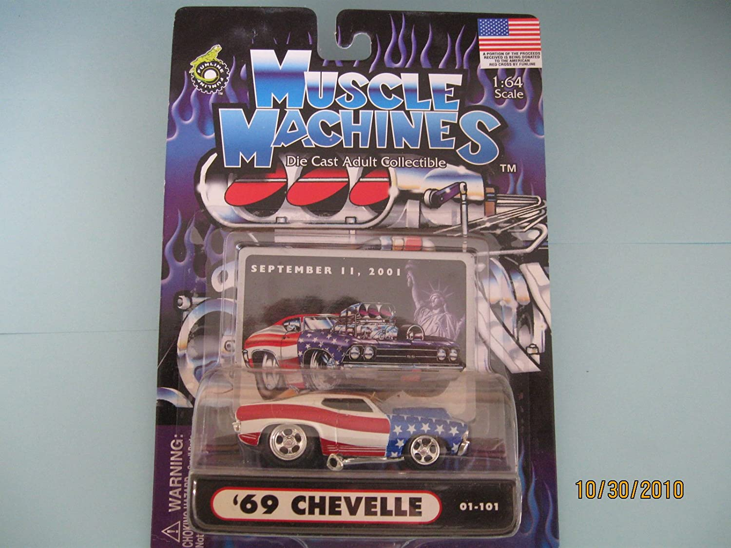 Muscle Machines 69 Chevelle Without Scoop September 11 Card Funline
