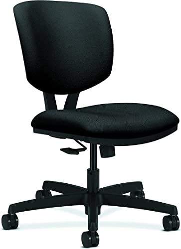 HON Volt Synchro-Tilt Task Chair for Office or Computer Desk, Black Fabric