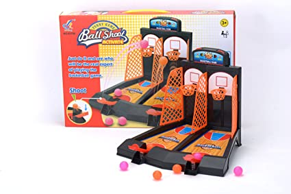 Basketball Hoop Set 2 Player Shooting Game For Desktop Or Tabletop, Sports  Toy For
