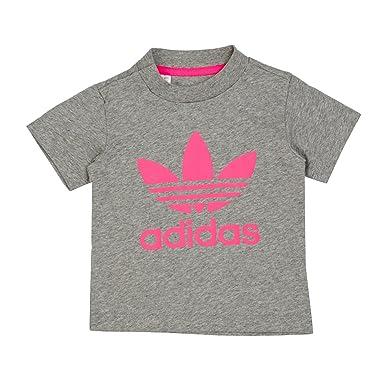53455366cc adidas Trefoil Tee Camiseta. Niños. Gris (Brgrin Rossol). 104   Amazon.co.uk  Clothing