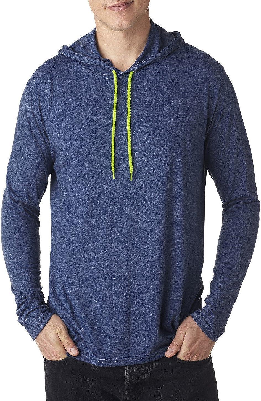 Anvil Lightweight Long-Sleeve Hooded T-Shirt (987AN)