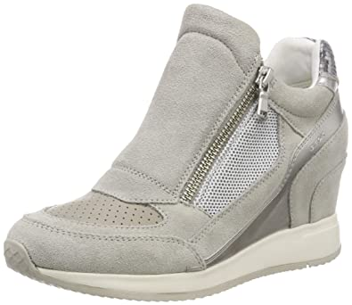 4e496e57db Amazon.com | Geox Women's D Nydame a Hi-Top Trainers | Fashion Sneakers