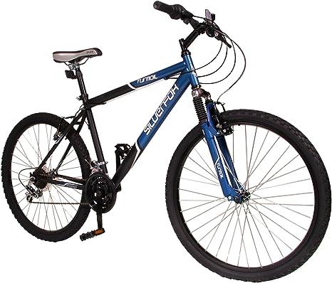 SilverFox MO13333 - Bicicleta de montaña Enduro para Hombre, Talla M (165-172 cm), Color (Matt Black/Matt Blue): Amazon.es: Deportes y aire libre
