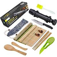 Sushi Making Kit - All In One Sushi Bazooka Maker with Bamboo Mats, Bamboo Chopsticks, Avocado Slicer, Paddle,Spreader…