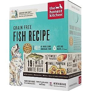 Honest Kitchen The Human Grade Grain Free Fish Dehydrated Dog Food