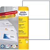 Avery Zweckform 3655-10 Universal-Etiketten (A4, Papier matt, 20 Stück, 210 x 148 mm) 10 Blatt weiß