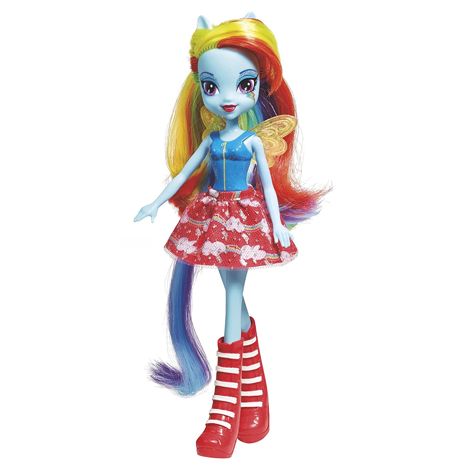 fe50a97c808 Amazon.com: My Little Pony Equestria Girls Rainbow Dash Doll: Toys & Games