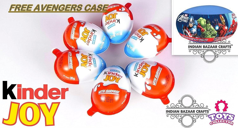 Amazon.com: Avengers Surprise Case Free Chocolate Kinder Joy for ...