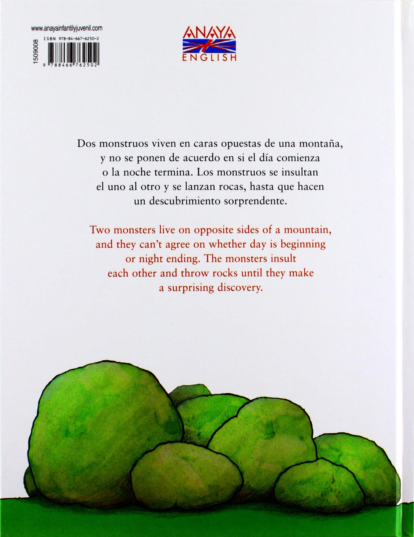 """""""Dos monstruos- Two monsters"""" un libro bilingüe castellano/inglés + CD-audio con locución en inglés para niños + 6 años"""