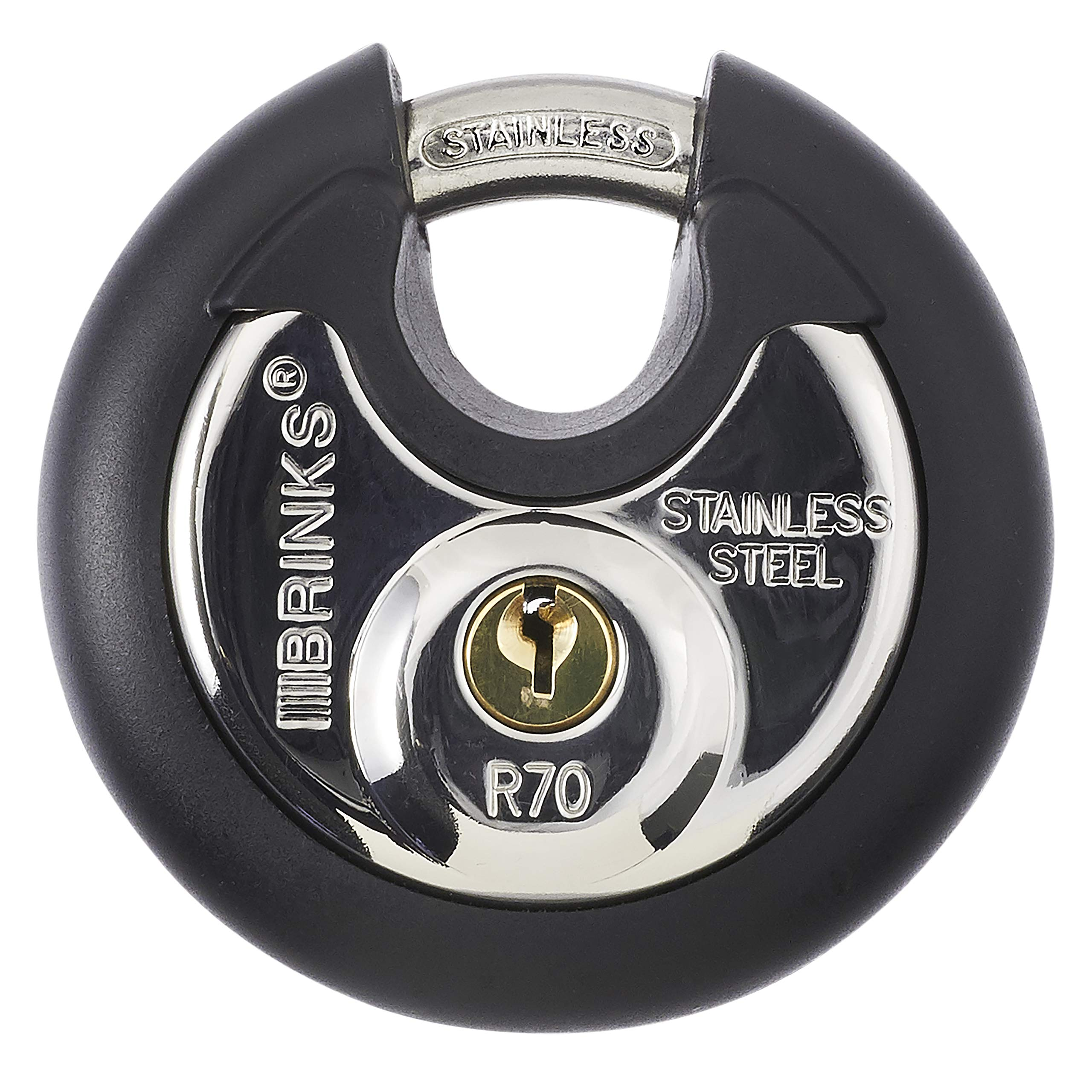 Brinks 673-70001 Commercial Discus Lock with Stainless Steel Shackle by BRINKS