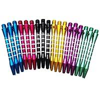 Fléchettes tiges en aluminium Medium Harrows Grip 2BA coloré Dart tiges Lancer de jouet des Ensembles de 6(18pcs) par Bipy