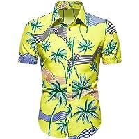 BIBOKAOKE Pikétröja för män sommar Hawaiitröja revers pikétröja med tryck Slim Fit fritidströja affärsskjorta tunn…
