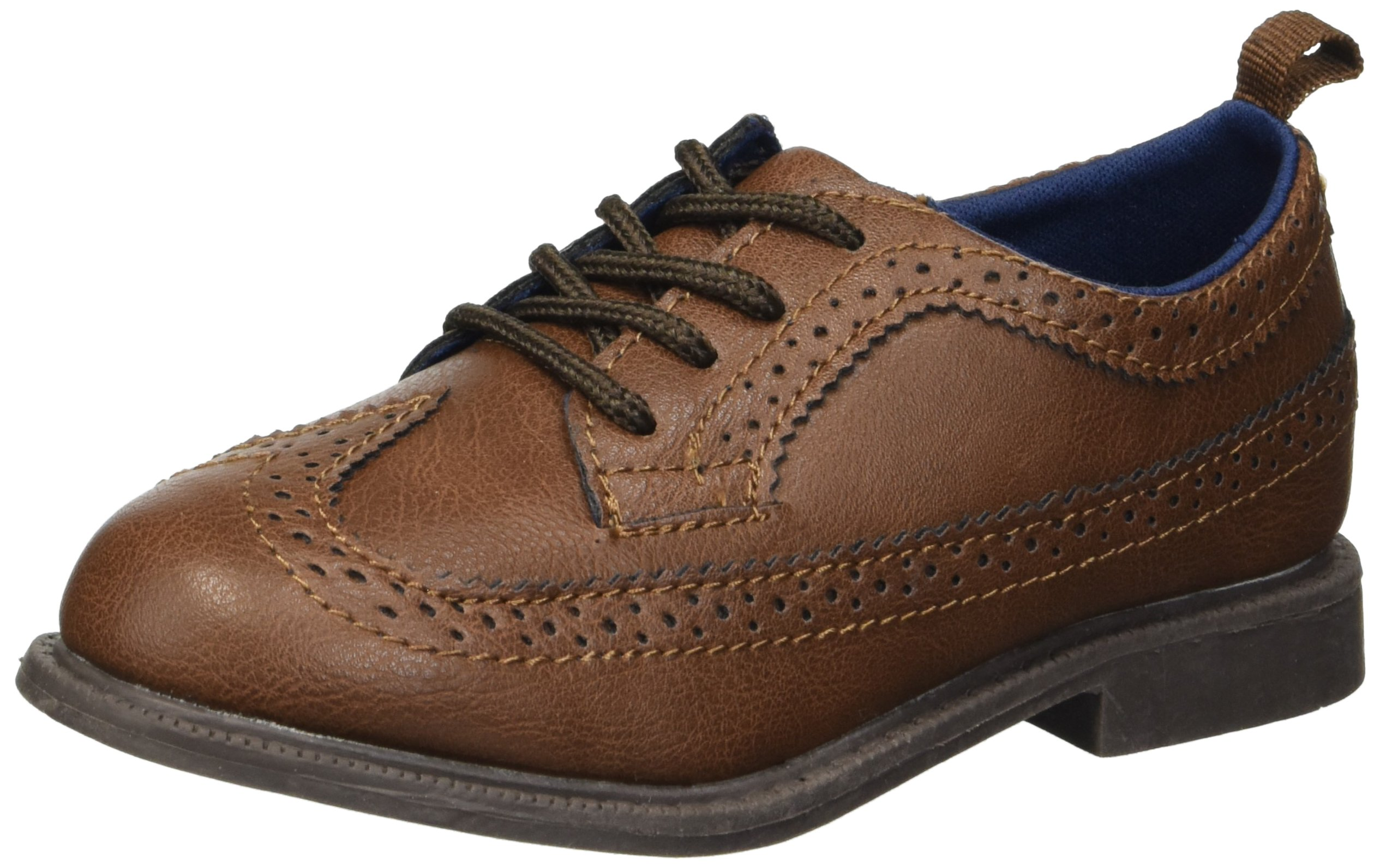 Carter's Boys' Oxford5 Dress Shoe Oxford, Brown, 8 M US Toddler