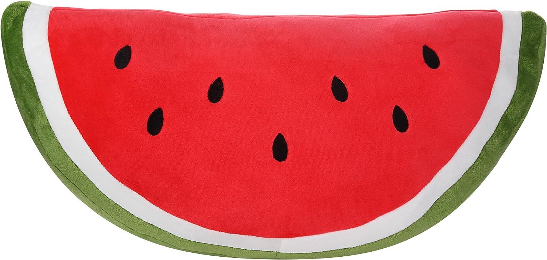 Watermelon Pillow Fluffy Watermelon Plush Soft Stuffed Watermelon Slice Pillow Durable Watermelon Throw Pillows Cushion Companion Plushy Watermelon Toys Gift For Kids Children Girls Boy 21 Toys Games