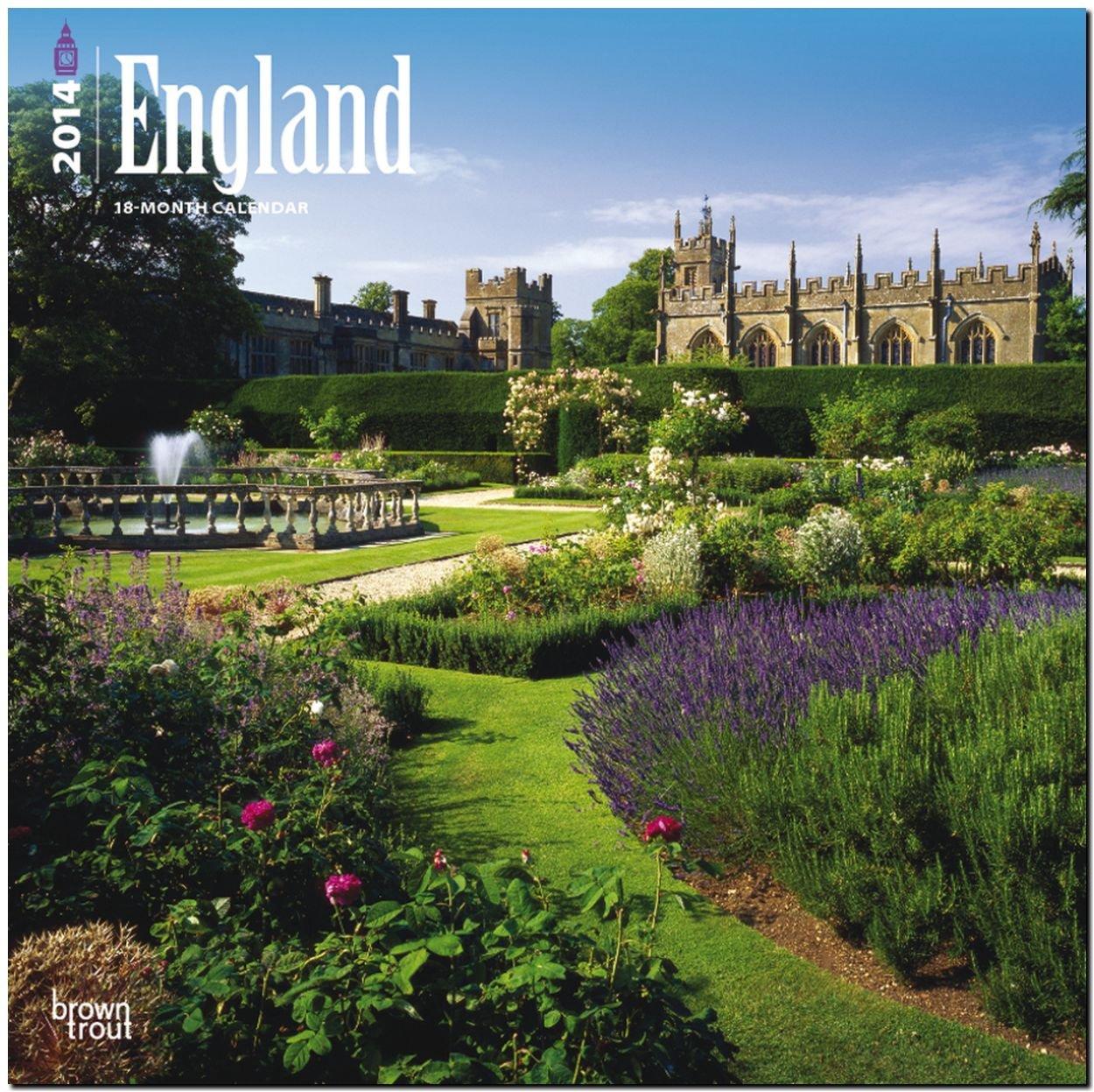 England 2014: Original BrownTrout-Kalender [Mehrsprachig] [Kalender]