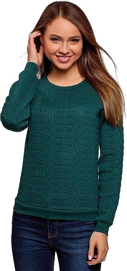 oodji Collection Mujer Suéter de Tejido Texturizado: Amazon.es ...