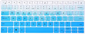 KeyCover - Keyboard Cover Compatible with Dell Inspiron 13 5390 5391 7300 7390 7391, Inspiron 14 5490 5493 5498 7490, Inspiron 13 5000 7000, Vostro 13 5390 5391 5490 Laptop - Gradual Blue