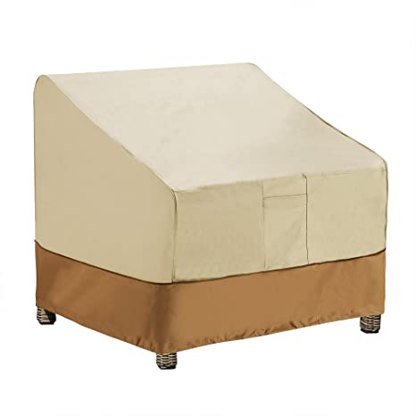 Remarkable Villacera 83 Dt5799 Patio Adirondack Chair Cover Beige And Br Dailytribune Chair Design For Home Dailytribuneorg