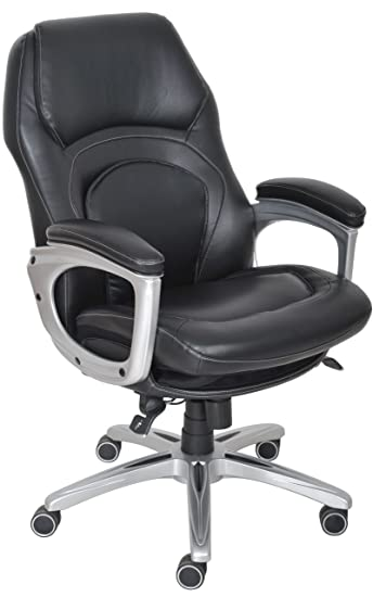 serta back in motion health and wellness executive office chair black