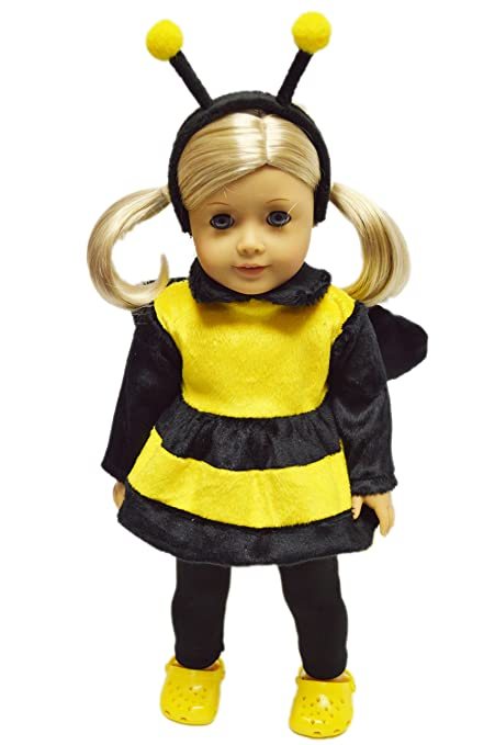 adbff80ccee Brittany s My Bumble Bee Halloween Costume Compatible with American Girl  Dolls