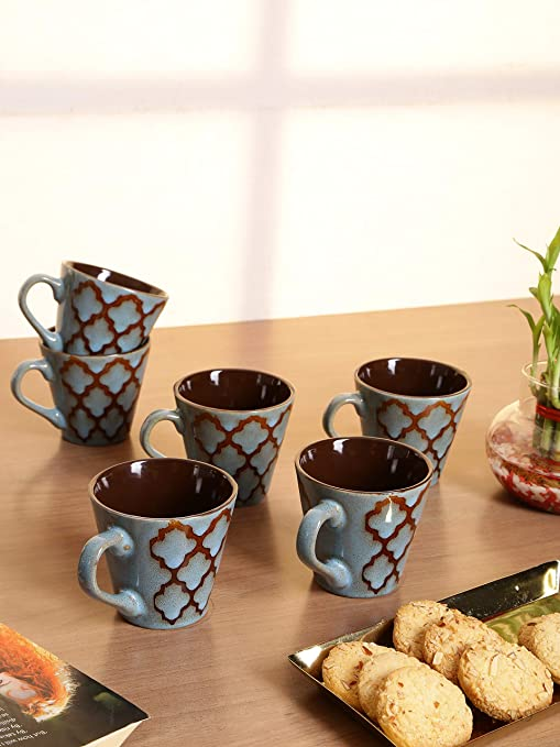 Buy Stoneware Tea Cups/Coffee Mugs (Set of 12 Cups) Online at Low Prices in India - Amazon.in & Buy Stoneware Tea Cups/Coffee Mugs (Set of 12 Cups) Online at Low ...