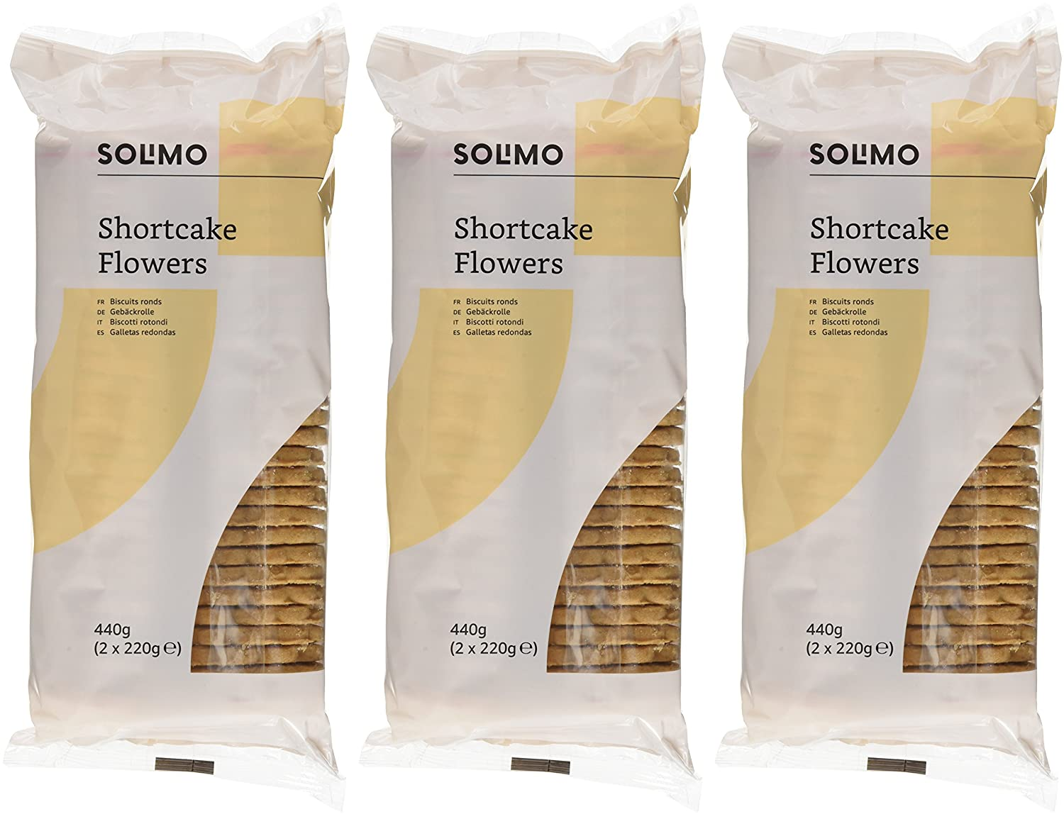 Marca Amazon - Solimo Galletas redondas- 440g x 3