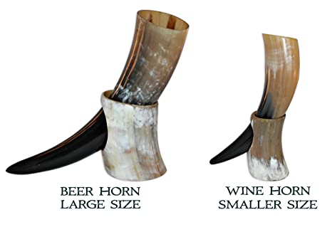 Ox Viking Drinking Horn With Horn Stand For Beer Wine Game of Thrones