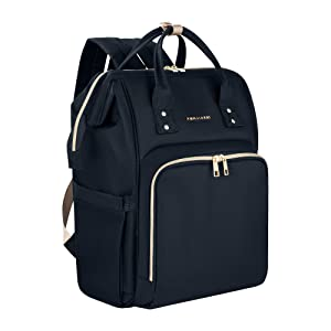 AMILLIARDI Diaper Bag Backpack - 6 INSULATED Bottle Holders - Detachable Stroller Straps (Black)
