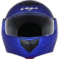 Vega Crux DX Flip-Up Helmet (Dull Blue, M)