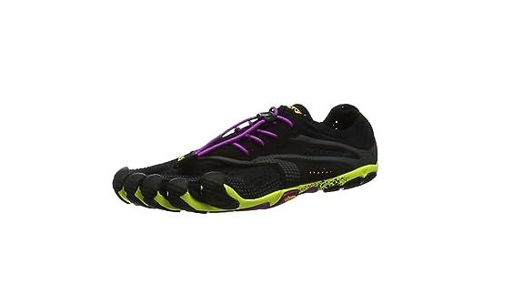 Vibram FiveFingers V-Run, Zapatillas Mujer, Multicolor (Black/yellow/purple), 38 EU: Vibram Five Fingers: Amazon.es: Zapatos y complementos