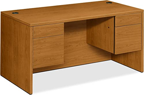 HON 10500 Series Double Pedestal Desk Shell -Executive Office Desk Shell, 60w x 30d x 29.5h, Harvest H10573