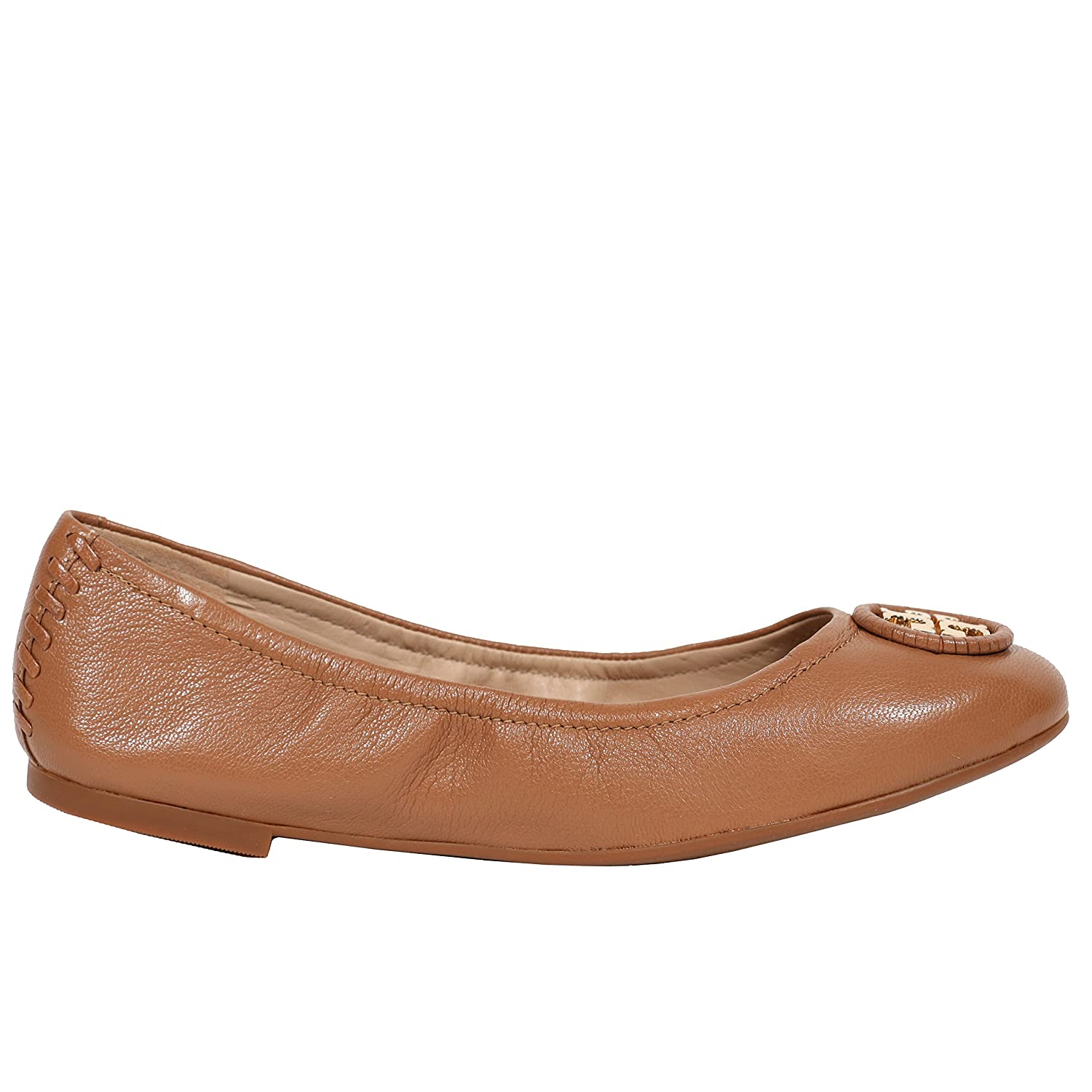 Amazon.com | Tory Burch Allie Shoes Flats Ballet Leather Logo (6.5 B(M) US,  Royal Tan) | Flats
