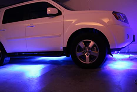 Great LED Under Car Glow Underbody System Neon Lights Kit 48u0026quot; X 2 U0026 36u0026quot;