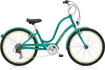 ELECTRA Townie Original 7d EQ Mujer Bicicleta Verde 26 Beach Cruiser Cilindro de iluminación, 539234: Amazon.es: Deportes y aire libre