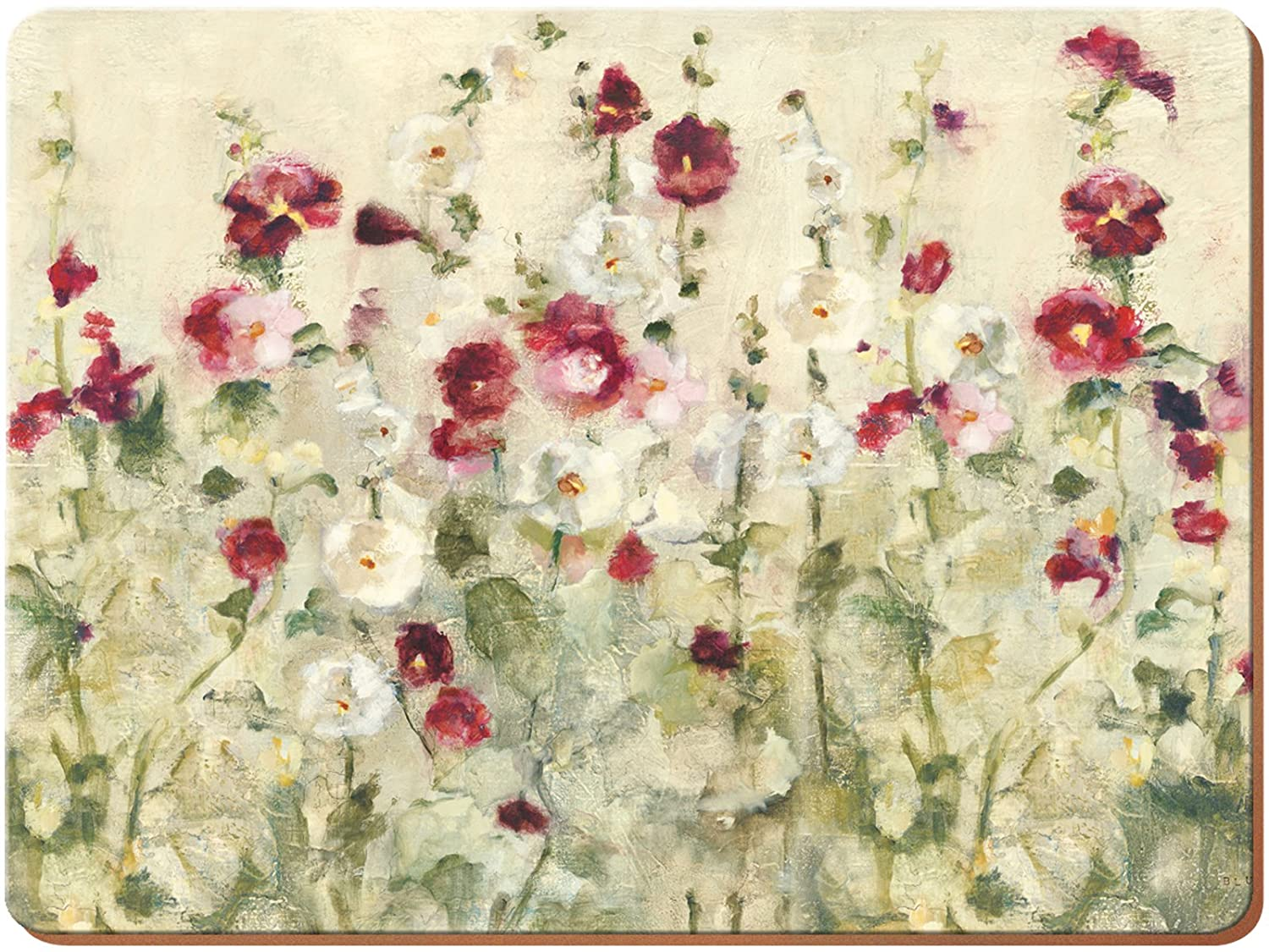 "Creative Tops Wild Field Poppies Premium 6-Piece Set of Cork-Backed Placemats by, 30 x 22.8 cm (11¾"" x 9"")"