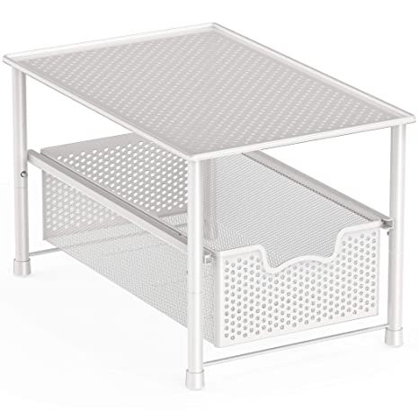 Pleasing Simple Houseware Stackable Under Sink Cabinet Sliding Basket Organizer Drawer White Home Interior And Landscaping Oversignezvosmurscom