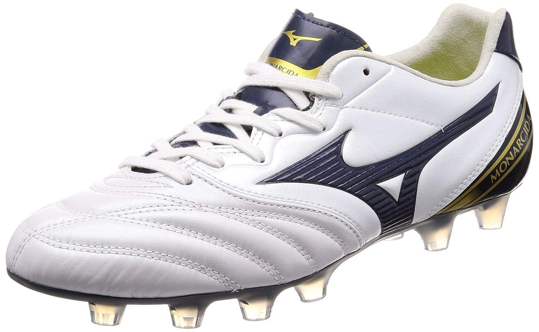 [ミズノ] サッカースパイク モナルシーダ 2 ワイド [メンズ] B002UY49XS 28.0 cm 3E|ホワイト/ネイビー/ゴールド ホワイト/ネイビー/ゴールド 28.0 cm 3E