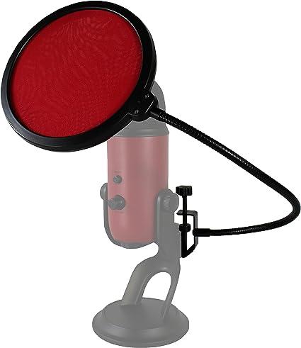 Mic Windscreen Pop Filter Mask Shield Dual Layer Studio Record Microphone