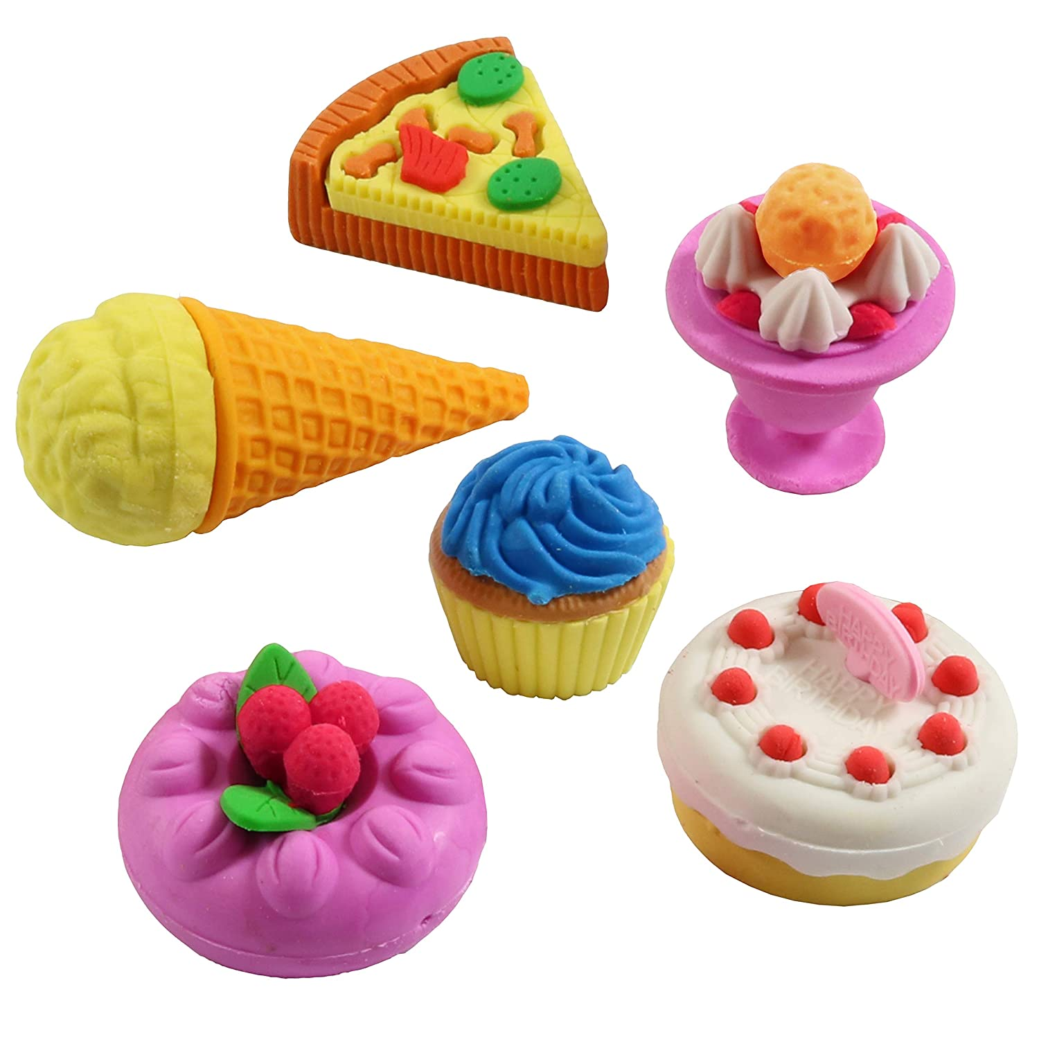 Rubbers Childrens Party Bag Fillers OWL or CUPCAKE Erasers Stationery