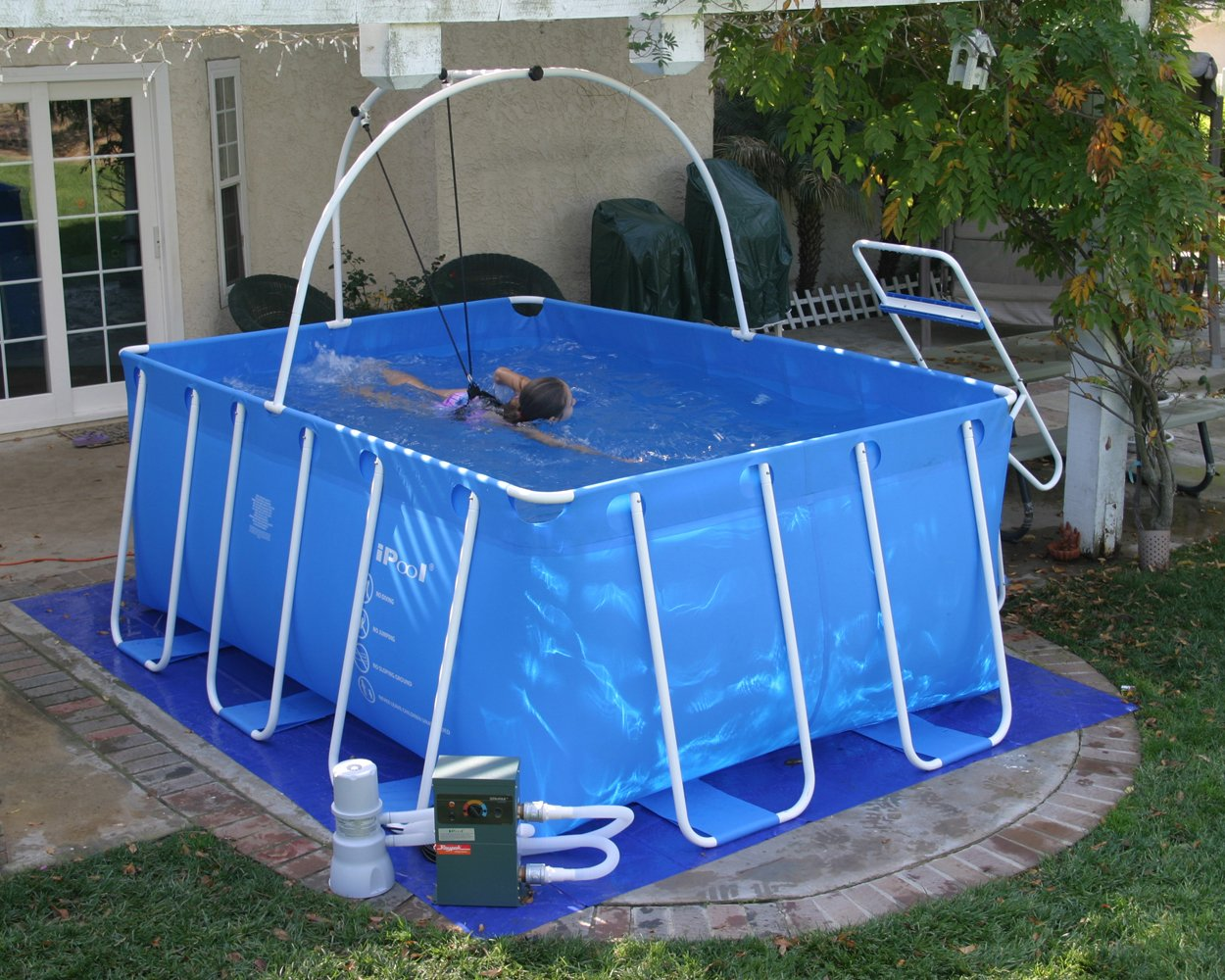 Amazon.com: Fitmax IPool Above Ground Exercise Swimming Pool: Sports U0026  Outdoors