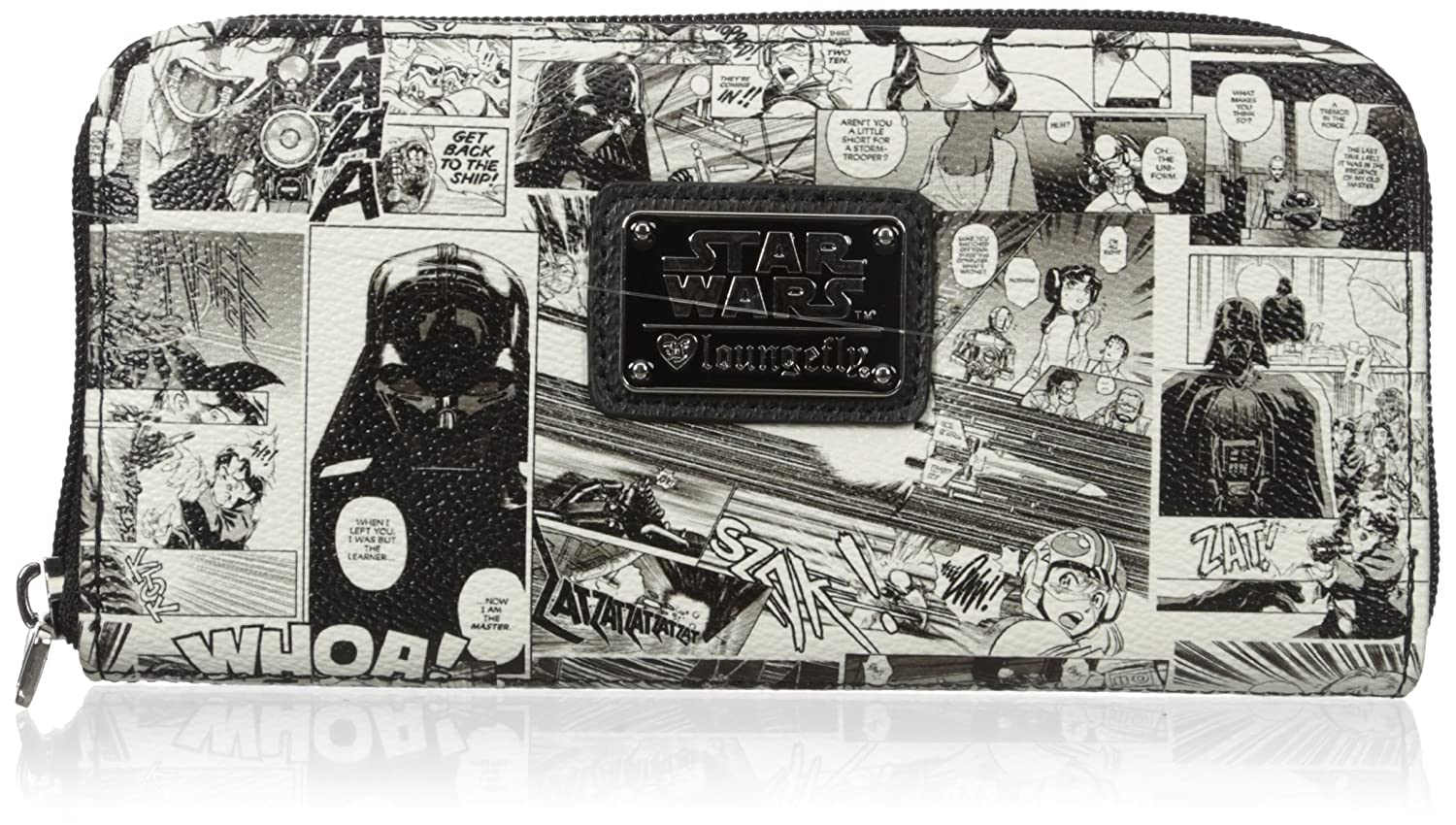 Amazon.com: Loungefly Womens Sw Black and White Comic Wallet, One Size: Shoes
