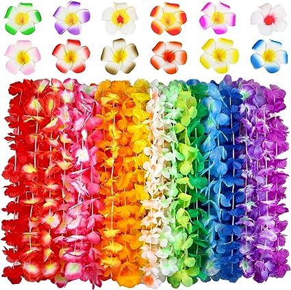 Summer Beach Party Wedding Decor Luau Leis Necklace Tropical Party Blossom