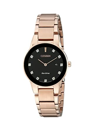 ad2d565e548010 Amazon.com: Citizen Eco-Drive Women's GA1058-59Q Axiom Rose Gold Watch:  Watches